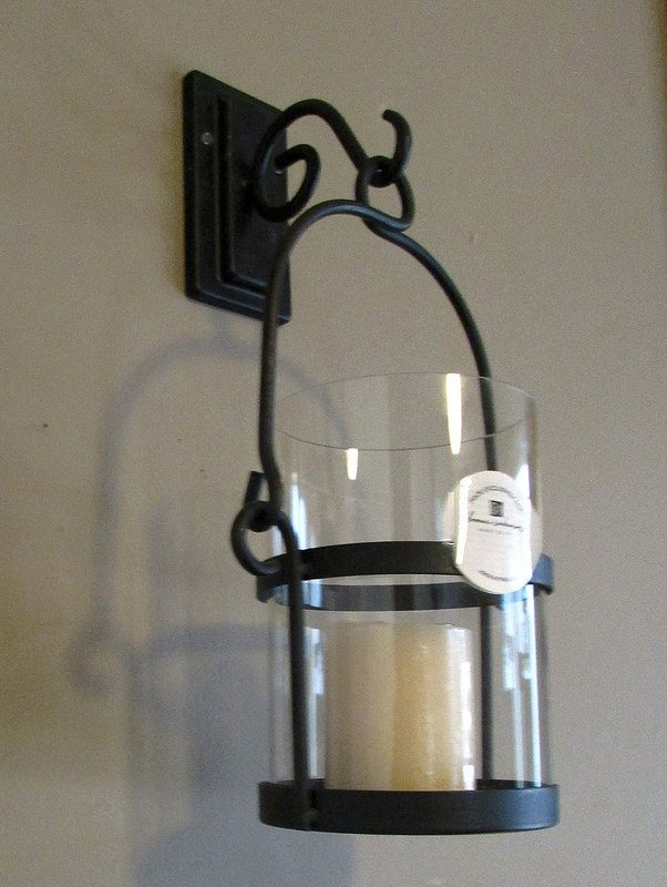 Home Interiors Wrought Iron Wall Sconce Candle Holder 12892 Rustic OOS