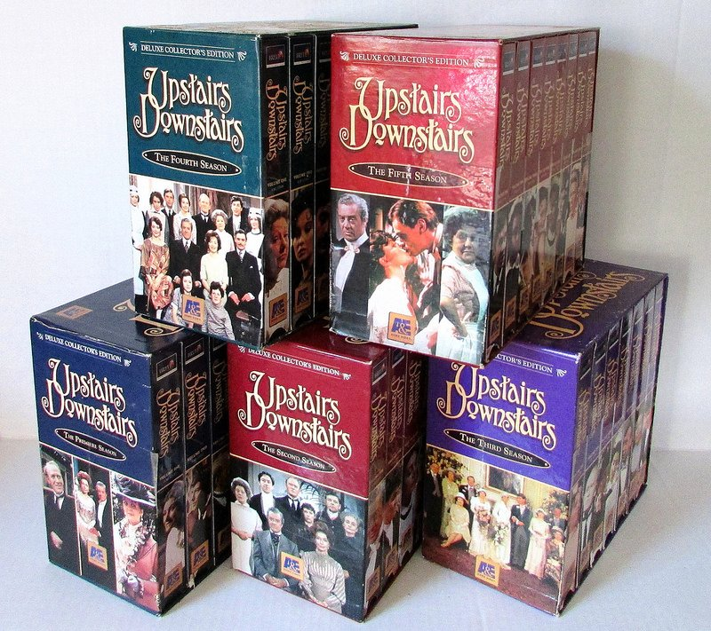 Upstairs Downstairs Deluxe Collectors Edition Season 1-5 VHS Box Sets