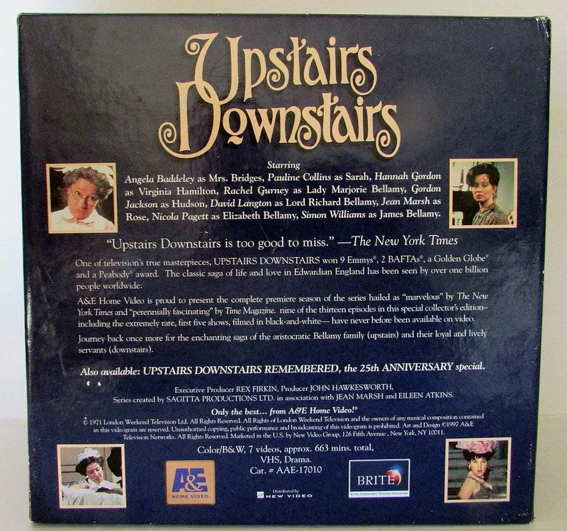 Upstairs Downstairs Deluxe Collectors Edition Season 1 VHS Box Sets