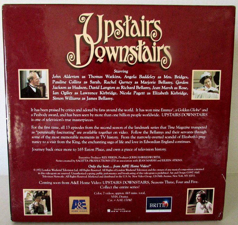 Upstairs Downstairs Deluxe Collectors Edition Season 2 VHS Box Sets