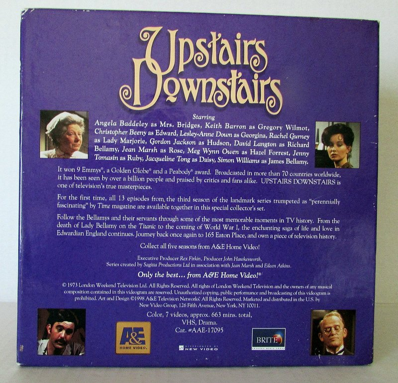 Upstairs Downstairs Deluxe Collectors Edition Season 3 VHS Box Sets