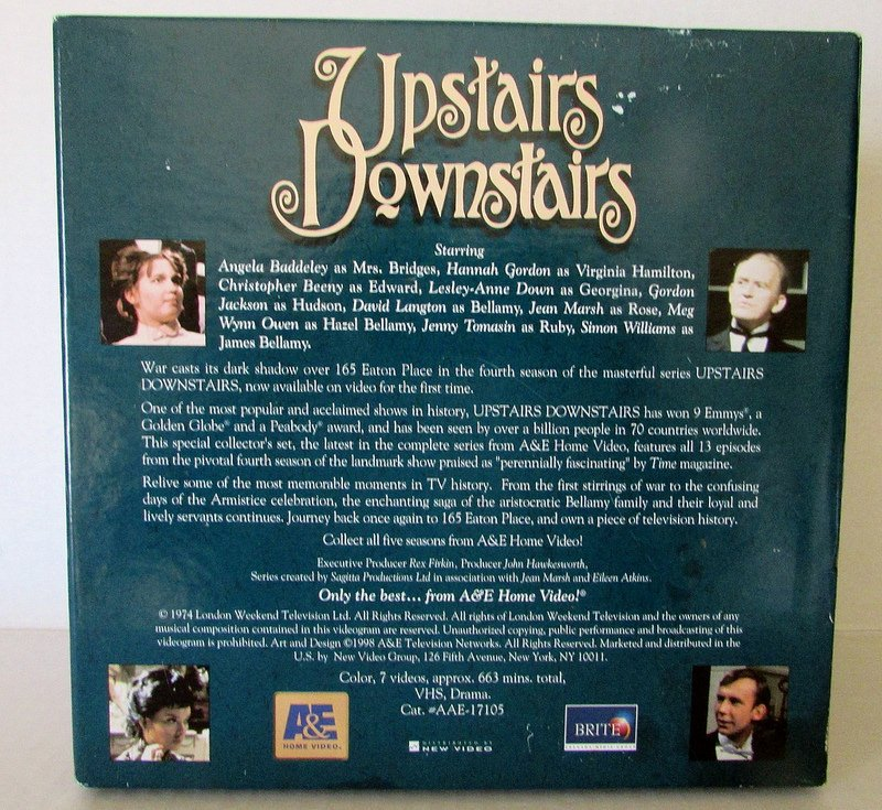 Upstairs Downstairs Deluxe Collectors Edition Season 4 VHS Box Sets