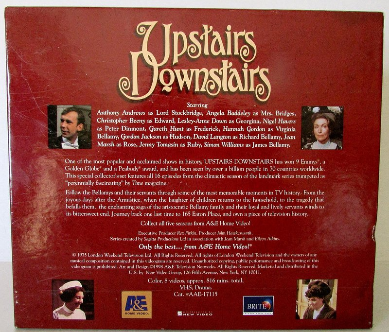 Upstairs Downstairs Deluxe Collectors Edition Season 5 VHS Box Sets