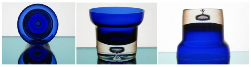 Cobalt Blue Ball Candle Holder Partylite P7225