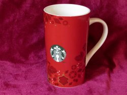Coffee Mug Starbucks Holiday Red Mermaid Logo 16 oz 2013