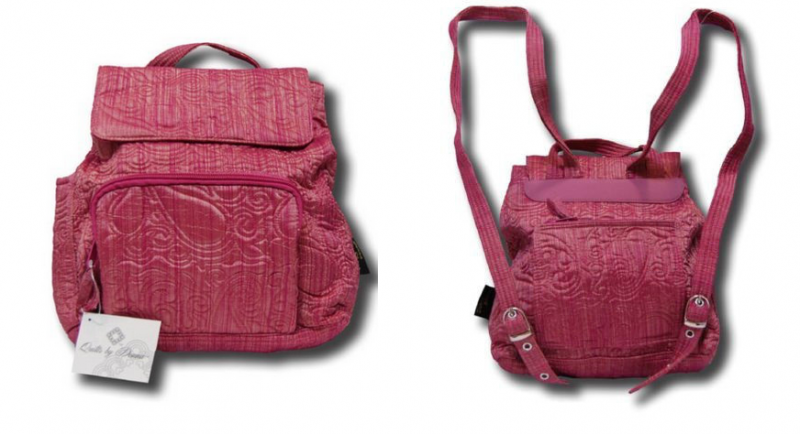 Quilted Backpack Pink Raspberry Ice for Women /Girls