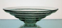Hanging Candle Holder Tiered Bowl 8 x 2.5 Pale Green Heavyweight