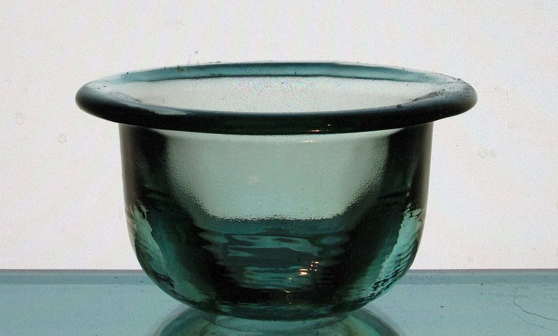 Hanging Candle Holder 4.25 x 2.5 Coke Glass Heavyweight Pale Green For 3 3/8 - 3.5 inch ring