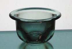 Hanging Candle Holder 4.25 x 2.5 Coke Glass Heavyweight Pale Green HCH059