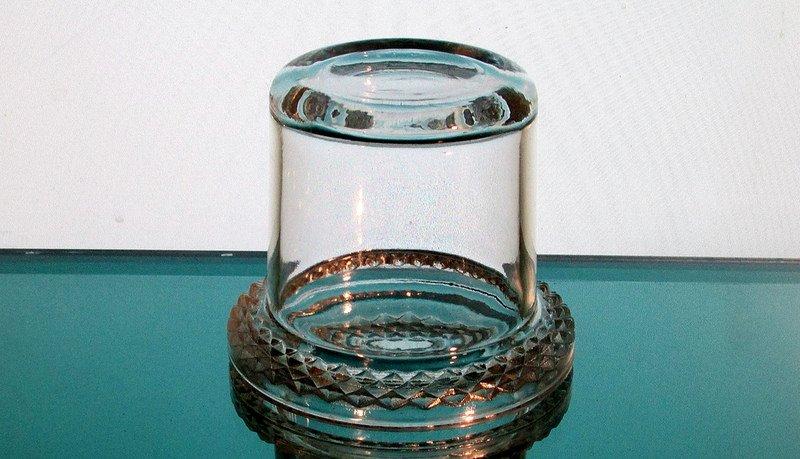 Hanging Candle Holder 3 5/8 x 3 Diamond Cut Rim HCH061