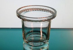 Hanging Candle Holder 3 5/8 x 3 Diamond Cut Rim HCH061