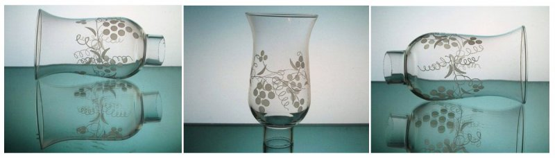 Hurricane Shade Grape Clusters 1 5/8 inch fitter x 5.75 with 7/8 inch neck