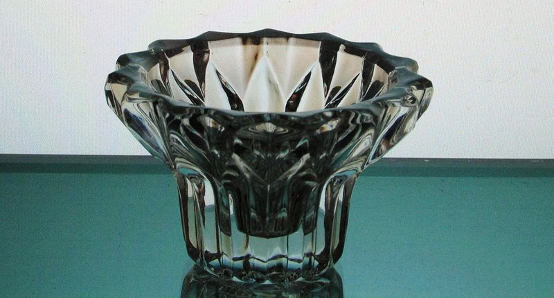 Hanging Candle Holder Heavy Crystal 3.25 x 2