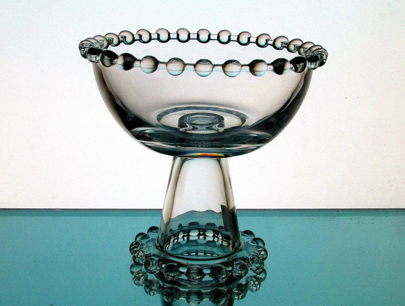 Candle Bowl On Pedestal Mini Ball Accents For Table