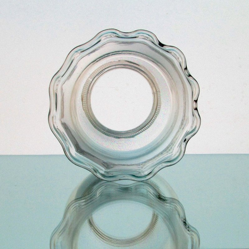 Hurricane Lamp Shade 2.25 inch Fitter 6 x 3.5 Crimped Rim