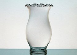 Hurricane Lamp Shade 2.25 inch Fitter 6.25 x 3.75 Crimped Rim