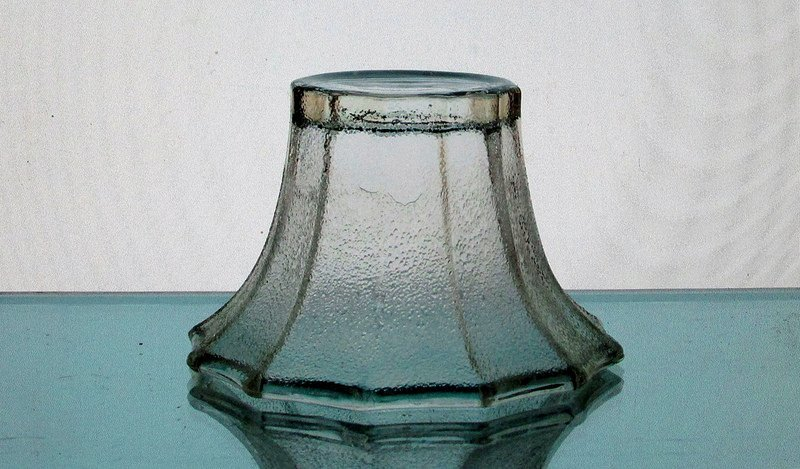 Hanging Candle Holder 4 x 2 5/8 inch Stippled Flare 12 point Flat Bottom HCH073