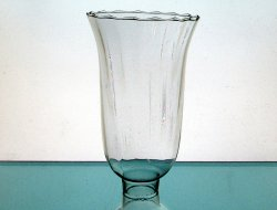 Hurricane Lamp Shade 1 5/8 inch fitter x 7.25 x 4.5 Scalloped Ridged