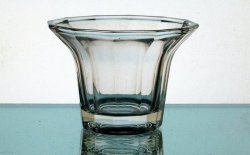 Hanging Candle Holder 4.25 x 3 inch Clear Flare 12 point Flat Bottom HCH074