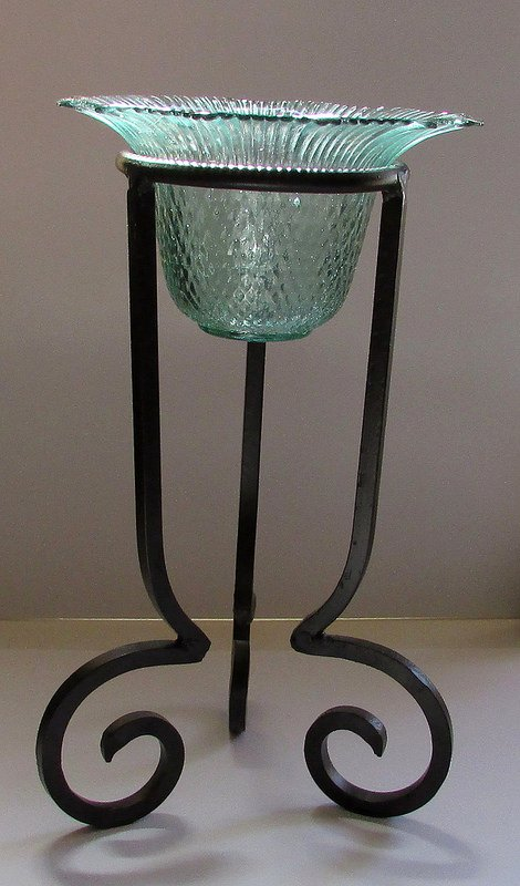 Hanging Candle Holder 6.75 x 4 Mermaid Green For a 4.75 to 5 inch ringg