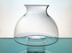 Glass Lamp Shade Clear Bulbous 2 7/8 Fitter x 6.75 x 3 7/8