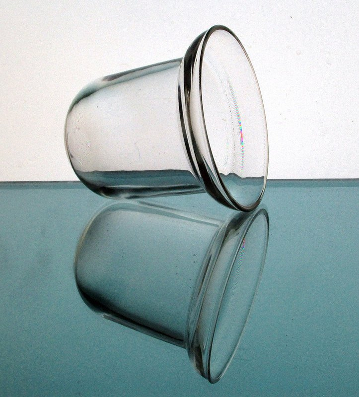 Hanging Candle Holder 3.75 x 4 1/8 Clear Heavy Glass HCH116