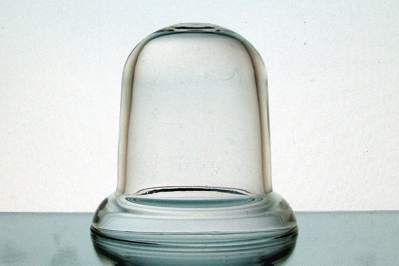 Hanging Candle Holder 4 x 4.25 Clear Heavy Glass HCH079