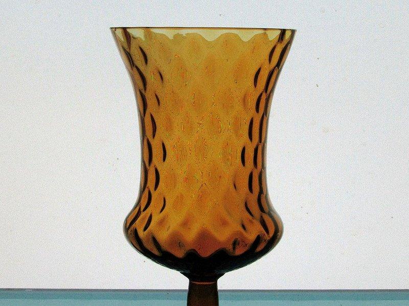 Home Interiors Peg Votive Candle Holder Medium Amber Tudor Style