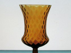 Home Interiors Peg Votive Candle Holder Medium Amber Tudor Style