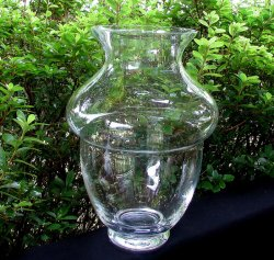 Clear Vase Muffin Top 10.75 inches tall x 7.5 wide for Stand or Chandelier