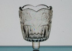 Home Interiors Peg Votive Candle Holder Signature Rose Pattern Clear Glass