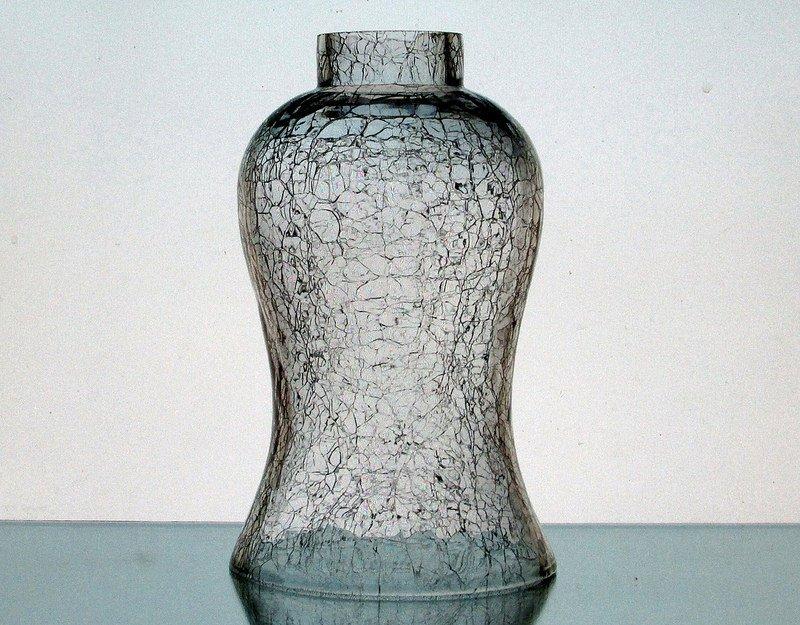 Crackle Glass Hurricane Shade 2 inch fitter x 7.25 x 4.5