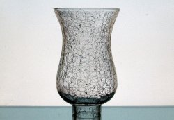 Crackle Glass Hurricane Shade 2 inch fitter x 7.25 x 4.5