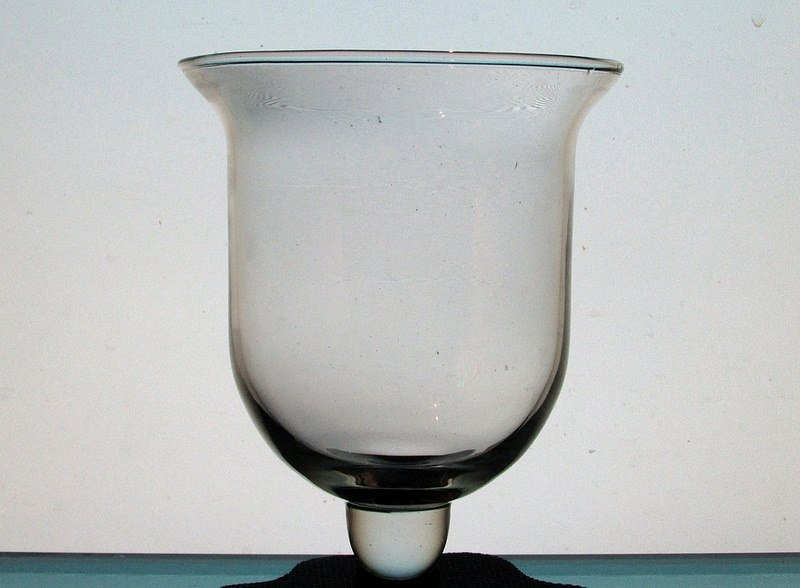 Hanging Candle Holder 4 7/8 x 6 Clear Bell with Knob HCH086