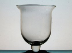 Hanging Candle Holder 4 7/8 x 5.5 Clear Bell with Knob HCH112