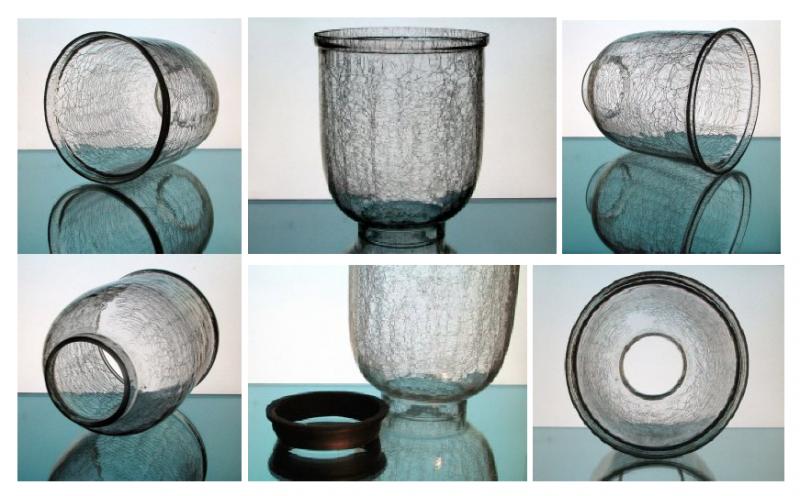 Hurricane Shade Crackle Glass