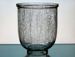 Hurricane Shade Crackle Glass XL 3 3/8 - 3 5/8 inch fitter x 6 5/8 w x 7 7/8  h