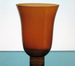 Hurricane Lamp Shade 2.25 inch fitter x 7.75 x 5.75 Amber Crackle Glass