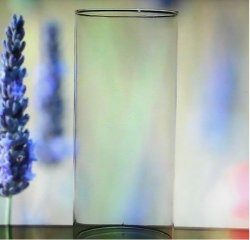 Hurricane Shade Sleeve Cylinder 9 7/8 inches tall x 4.5 Hand Blown Clear Glass