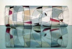 Hurricane Shade Sleeve Partylite Mosaic 11 3/8 h x 4 3/8 w