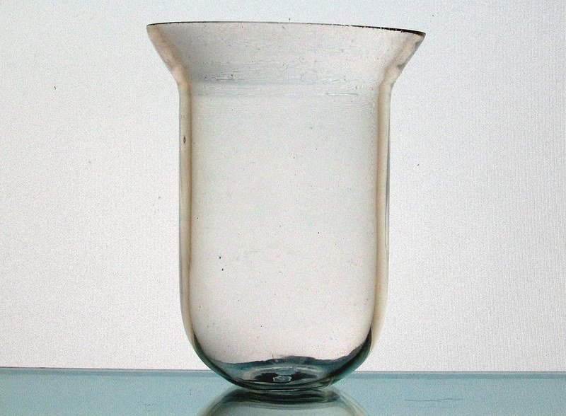 Hanging Candle Holder 3.75 x 5 Clear Heavyweight HCH090  Holder for a 3 inch ring