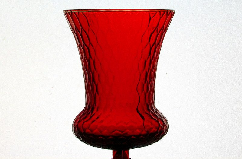 Home Interiors Peg Votive Candle Holder Flared Honeycomb Red