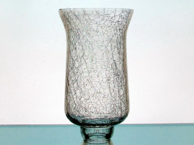 Crackle Glass Hurricane Shade 7.5 x 4.5 x 2 inch fitter