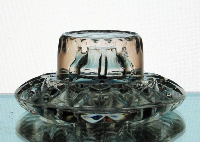 Hanging Candle Holder Heavy Crystal Clear for 2 - 2.5 inch rings HCH091