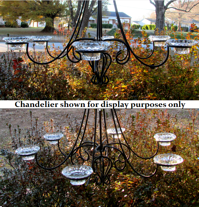 Shown displayed in a hanging chandelier.  Chandelier not included, nor for sale.