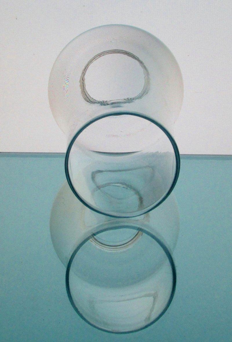Hurricane Lamp Shade 2 inch fitter x 6.75 x 2.5 Hippy Hand Blown Clear