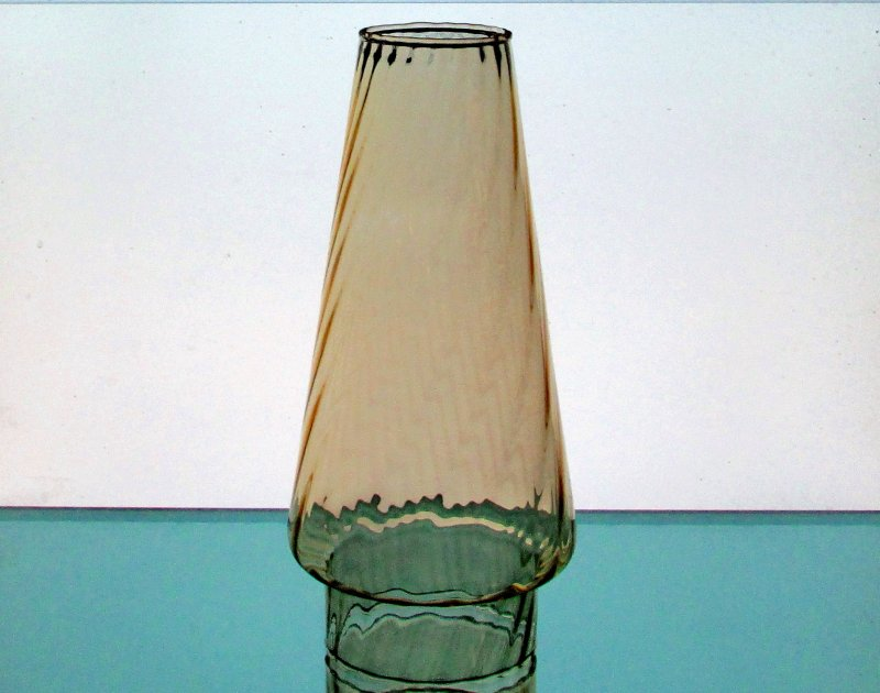 Hurricane Lamp Shade 3 inch fitter x 8 5/8 x 2 Conical Amber Swirl