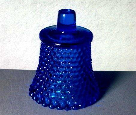 Home Interiors Peg Votive Candle Holder Hobnail Sapphire Blue