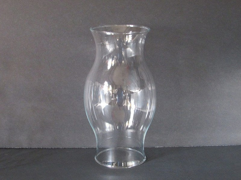 Hurricane Shade Bulbous Sleeve Clear Glass 8.5 x 3 5/8 x 3.25