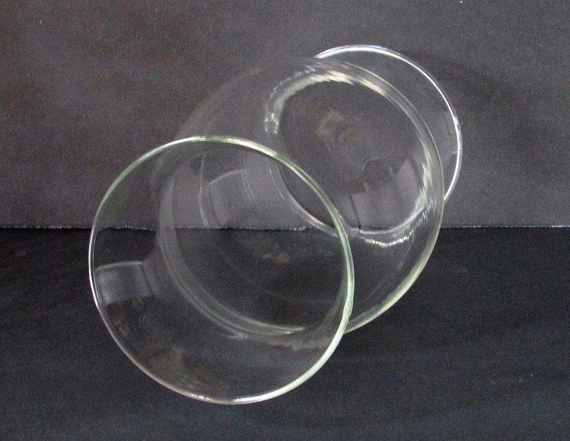 Hurricane Shade Bulbous Sleeve Clear Glass 8.5 x 3.75 x 3 5/8